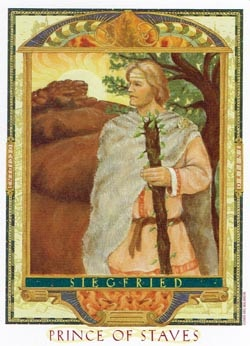 Prince of Staves tarot card