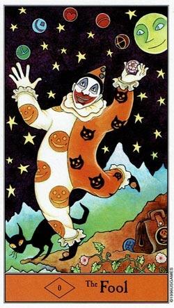 Halloween The Fool tarot card