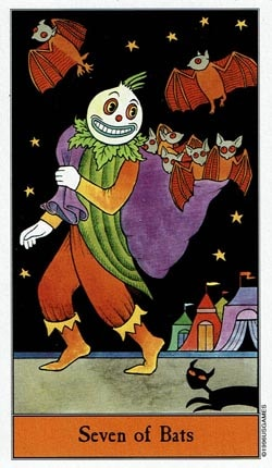 Halloween 7 of Bats tarot card