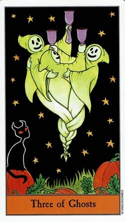 3 of Ghosts tarot card