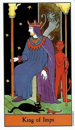 Halloween King of Imps tarot card