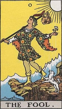 Rider-Waite Fool Tarot Card