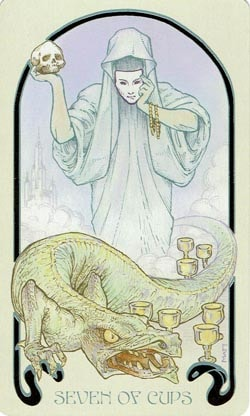7 of Cups Ethereal Visions Illuminated Tarot
