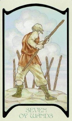 7 of Wands Ethereal Visions Illuminated Tarot