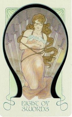 8 of Swords Ethereal Visions Illuminated Tarot