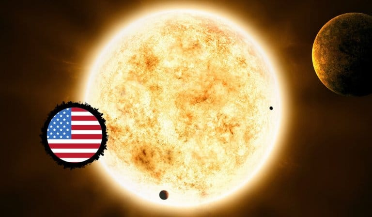 The Sun in the United States Birth Chart
