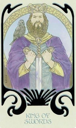 King of Swords Ethereal Visions Illuminated Tarot