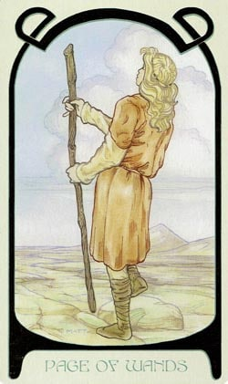 Page of Wands Ethereal Visions Illuminated Tarot