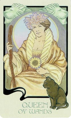 Queen of Wands Ethereal Visions Illuminated Tarot