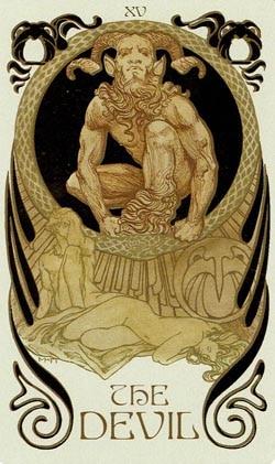 The Devil Ethereal Visions Illuminated Tarot