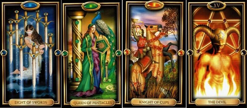 The Gilded Tarot cards