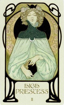 The High Priestess Ethereal Visions Illuminated Tarot