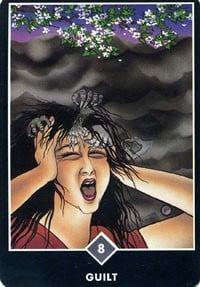 Guilt tarot card