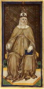 High Priestess card Bembo-Visconti Tarot