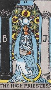 High Priestess card Rider-Waite