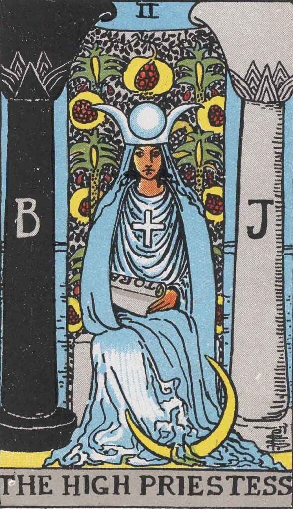High Priestess card Rider-Waite