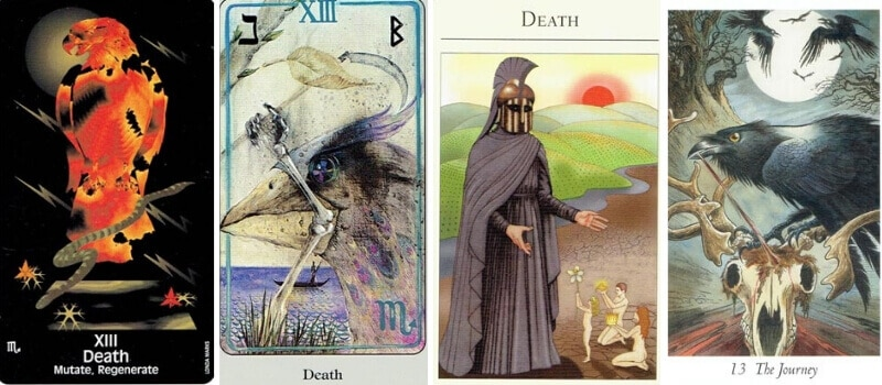Death tarot card representations