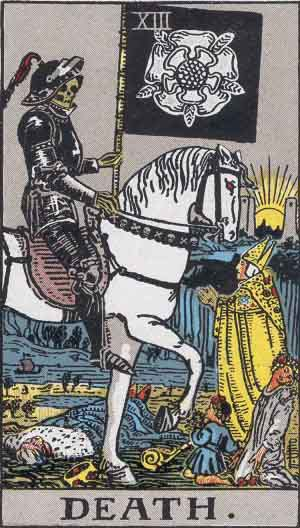 Death card Rider-Waite Tarot