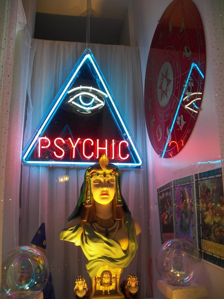 at the psychic