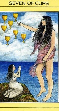 7 of Cups tarot card