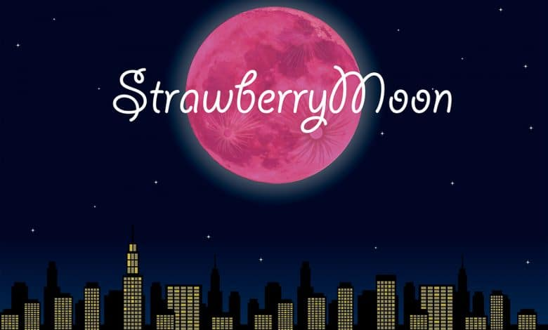 Full Strawberry Moon 2020