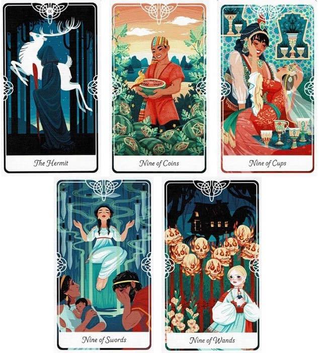 Numerology of April 2021 tarot cards