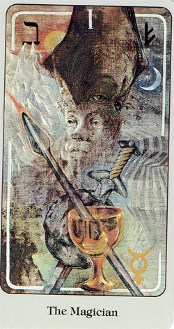 The Magician Haindl Tarot