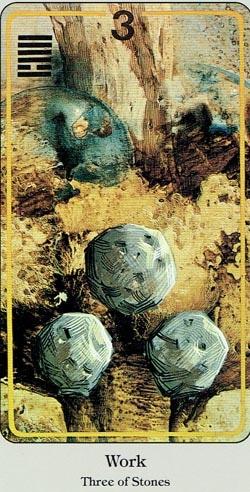 3 of Stones Haindl tarot
