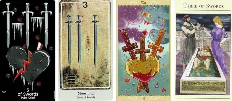 3 of Swords visuals