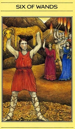 6 of Wands Mythic Tarot