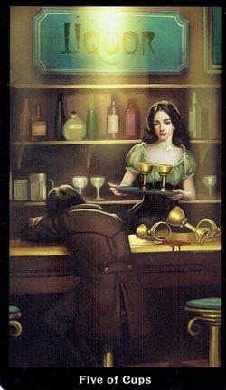 5 of Cups Steampunk Tarot