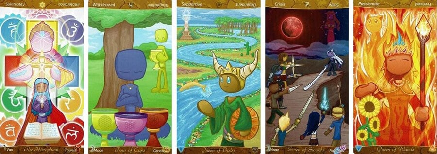 The Patch Tarot visuals