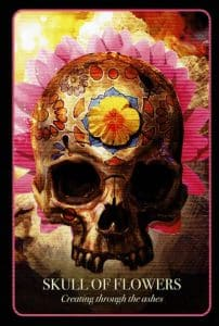 Halloween Oracle Skull Of Flowers