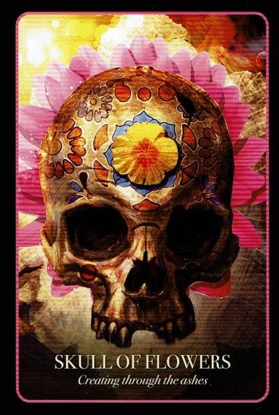 Halloween Oracle Skull Of Flowers