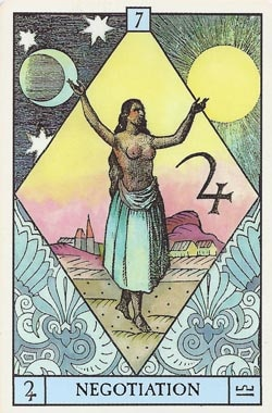 Jupiter in Libra Negotiation tarot card