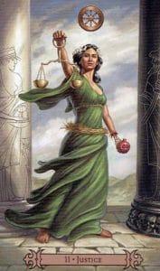 Justice Spellcaster Tarot