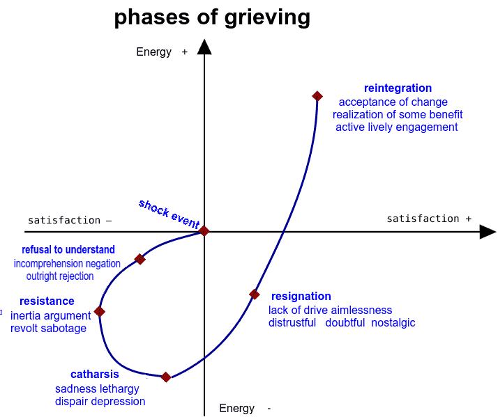 Kübler Ross grieving curve