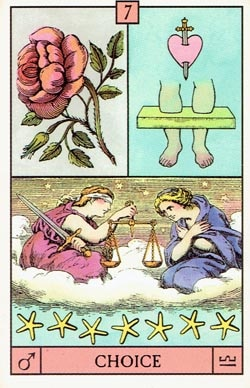 Mars in Libra Choice tarot card