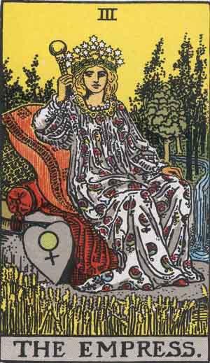 The Empress tarot card Rider-Waite
