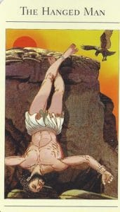 The Hanged Man Mythic Tarot
