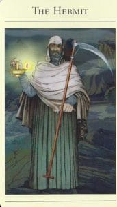 The Hermit Mythic Tarot