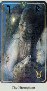 The Hierophant Haindl Tarot