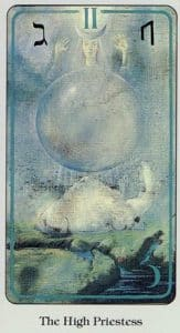 The High Priestess Haindl Tarot
