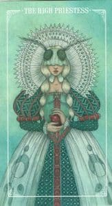The High Priestess Ostara Tarot