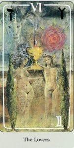 The Lovers Haindl Tarot