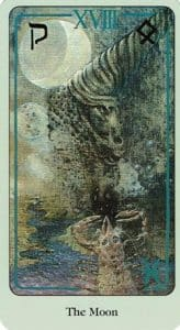 The Moon Haindl Tarot