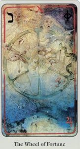 The Wheel of Fortune Haindl Tarot