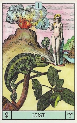 Venus in Aries Lust tarot card