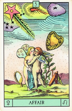 Venus in Leo Affair tarot card