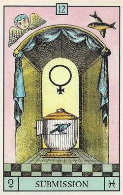Venus in Pisces Submission tarot card